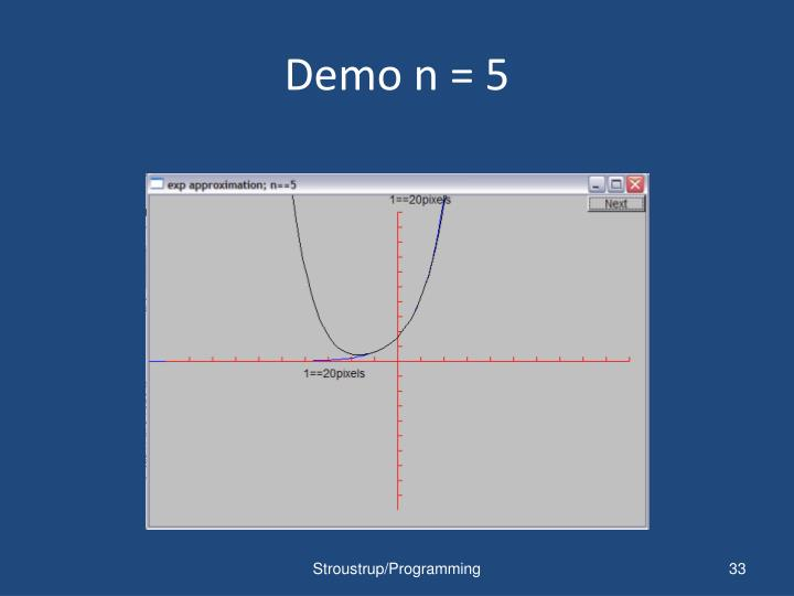 Demo n = 5