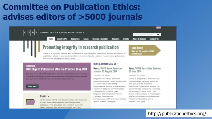 Committee on Publication Ethics: