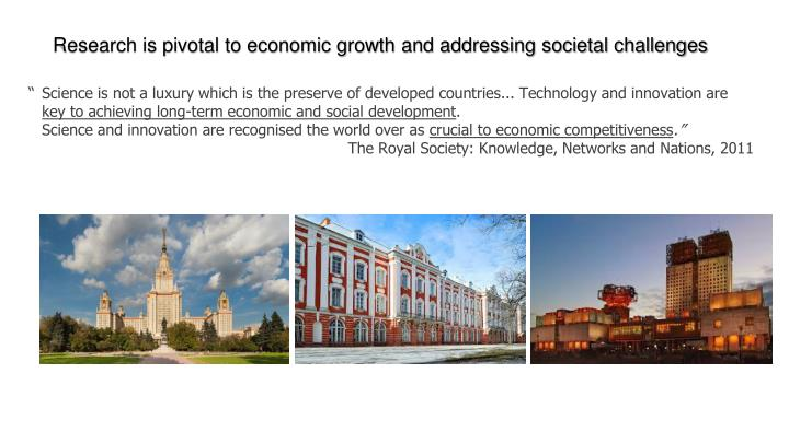 Research is pivotal to economic growth and addressing societal challenges