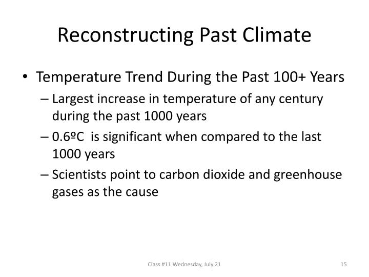 Reconstructing Past Climate