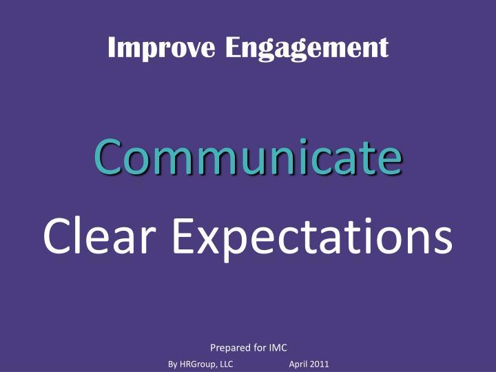 Improve Engagement