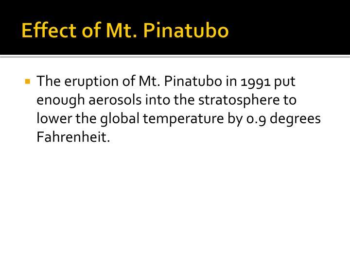 Effect of Mt. Pinatubo