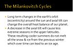 the milankovitch cycles