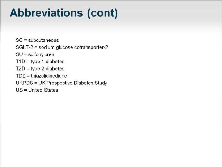 Abbreviations (cont)