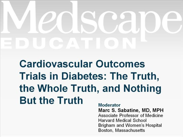 cardiovascular outcomes trials in diabetes the truth the whole truth and nothing but the truth