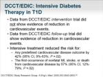 dcct edic intensive diabetes therapy in t1d