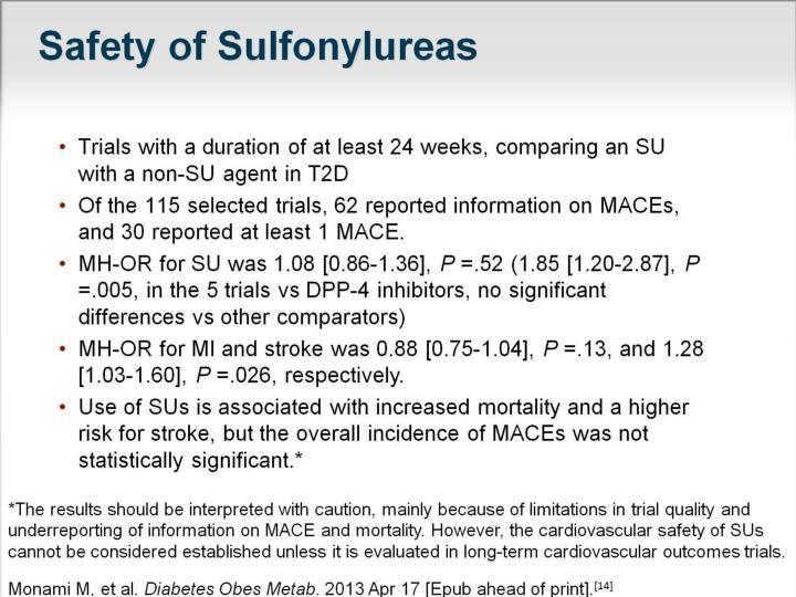 Safety of Sulfonylureas