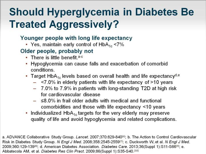 Should Hyperglycemia in Diabetes Be Treated Aggressively?