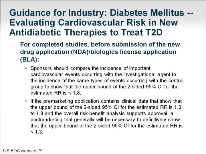 Guidance for Industry: Diabetes Mellitus