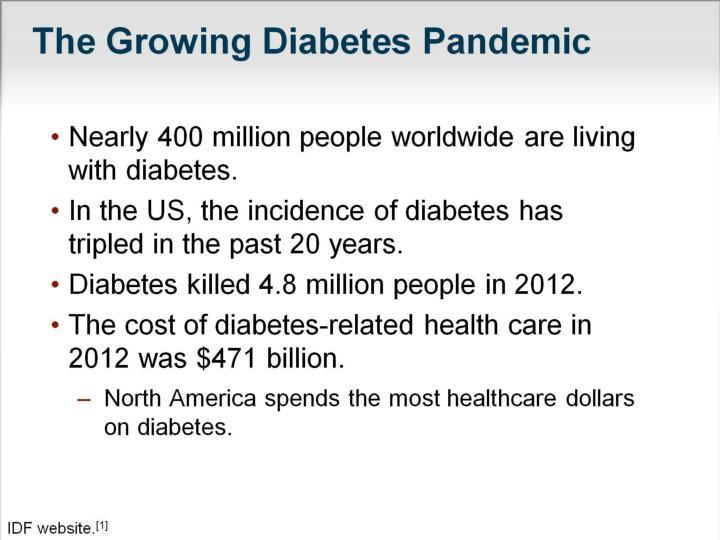 The Growing Diabetes Pandemic