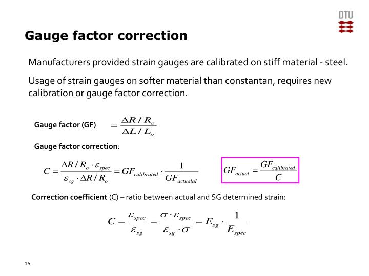 Gauge factor correction