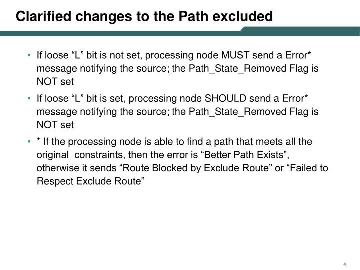 Clarified changes to the Path excluded