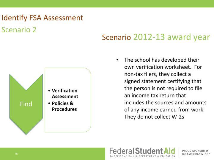 Identify FSA Assessment