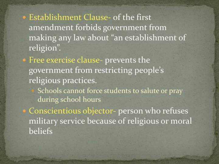 Establishment Clause-