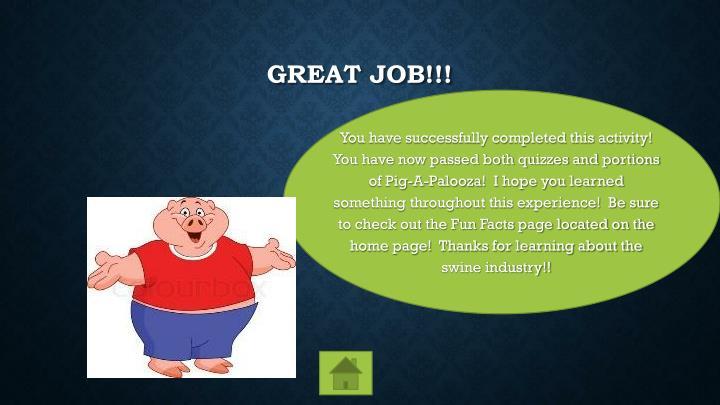 Great Job!!!