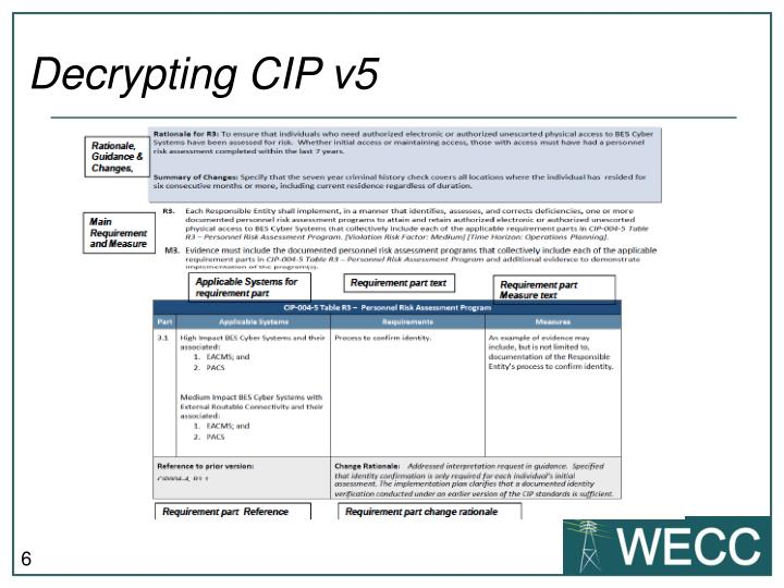 Decrypting CIP v5