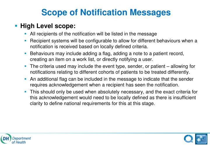 Scope of Notification Messages