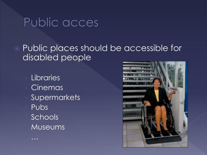 Public acces