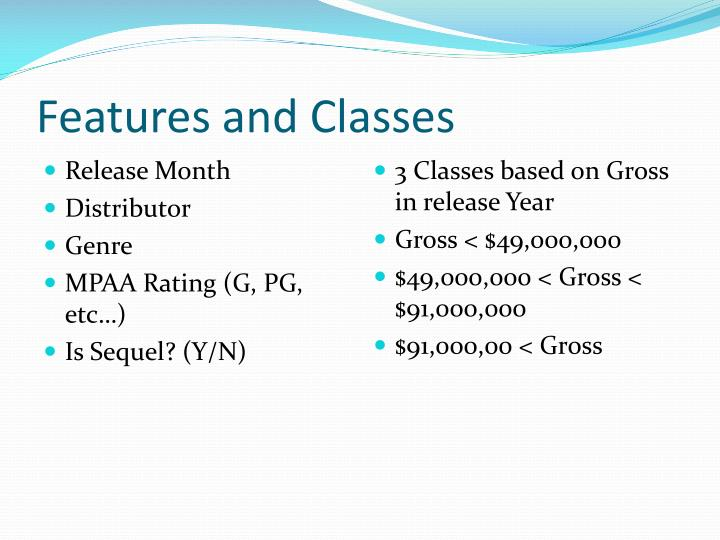 Features and Classes