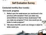 self evaluation survey3