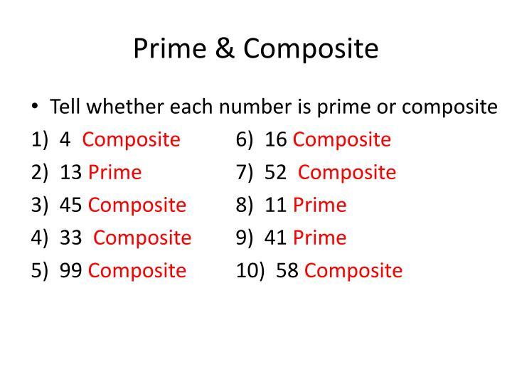 Prime & Composite