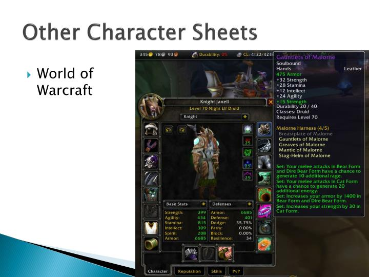 Other Character Sheets
