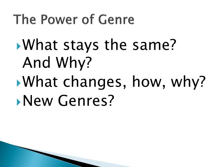 The Power of Genre