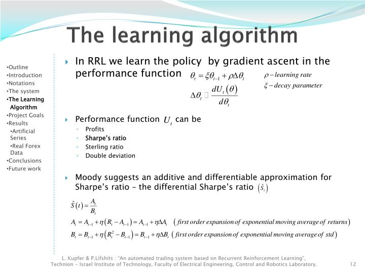 Automated trading system algorithms