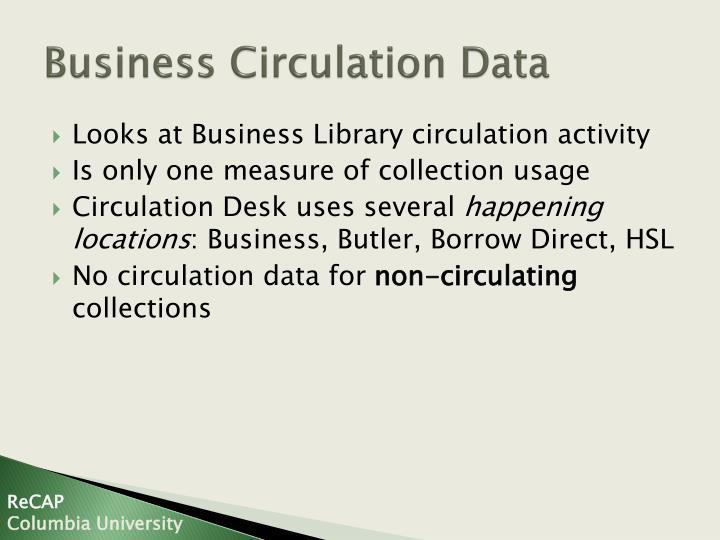 Business Circulation Data