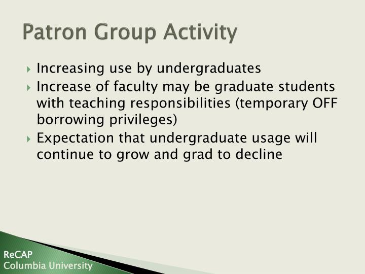 Patron Group Activity