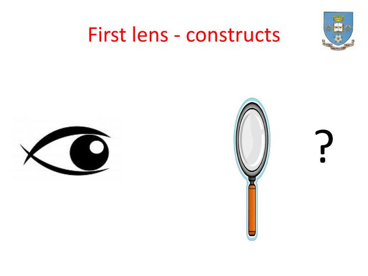 First lens - constructs