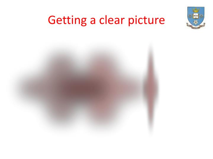 Getting a clear picture