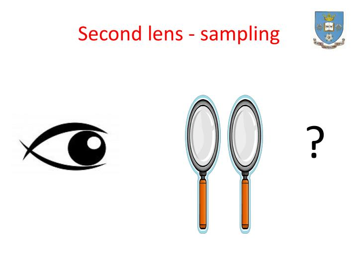 Second lens - sampling