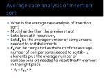 average case analysis of insertion sort
