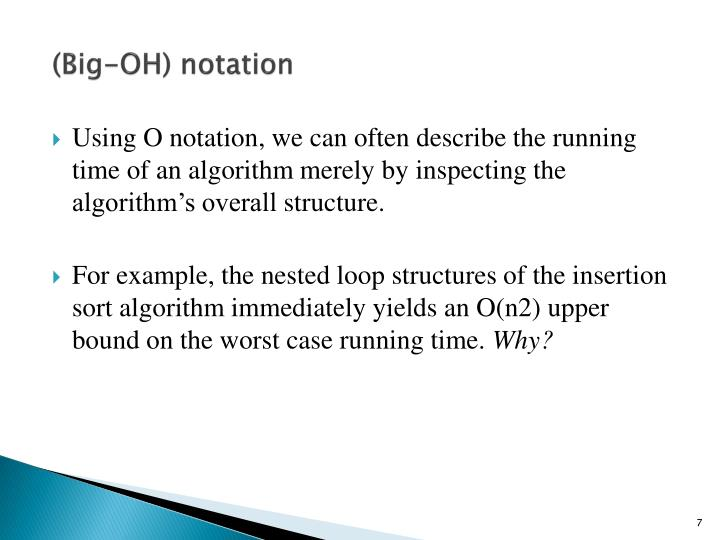 (Big-OH) notation
