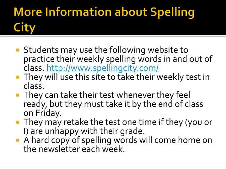 More Information about Spelling City