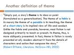 another definition of theme