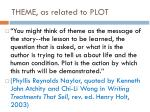 theme as related to plot