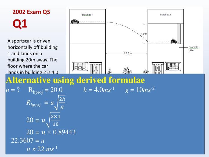 2002 Exam Q5
