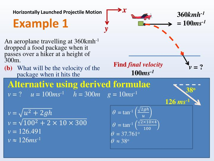 Horizontally Launched Projectile Motion