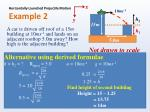 horizontally launched projectile motion example 21