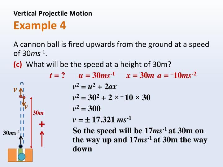 Vertical Projectile Motion