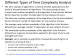 different types of time complexity analysis
