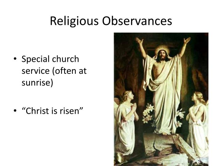 Religious Observances