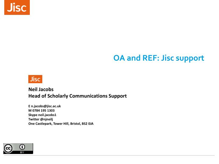 Oa and ref jisc support