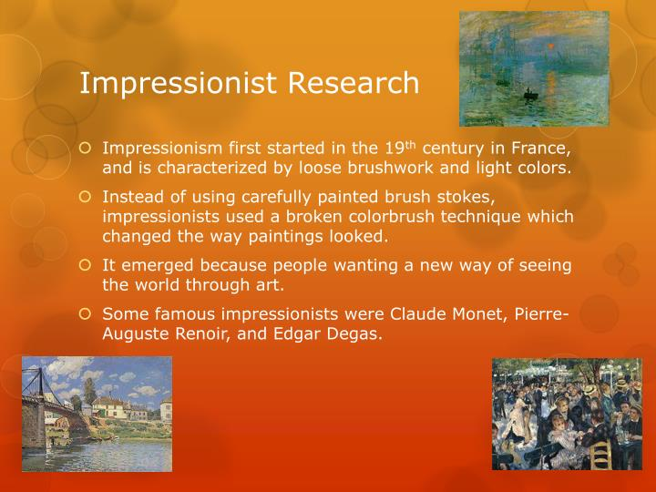 Impressionist Research