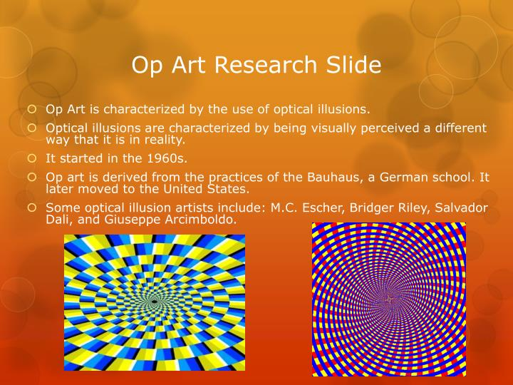 Op Art Research Slide
