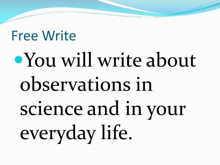 Free Write