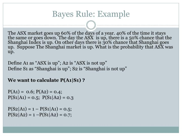 Bayes Rule: Example