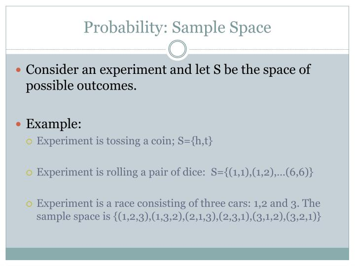 Probability: Sample Space